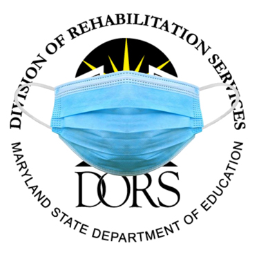 DORS logo with a face mask.