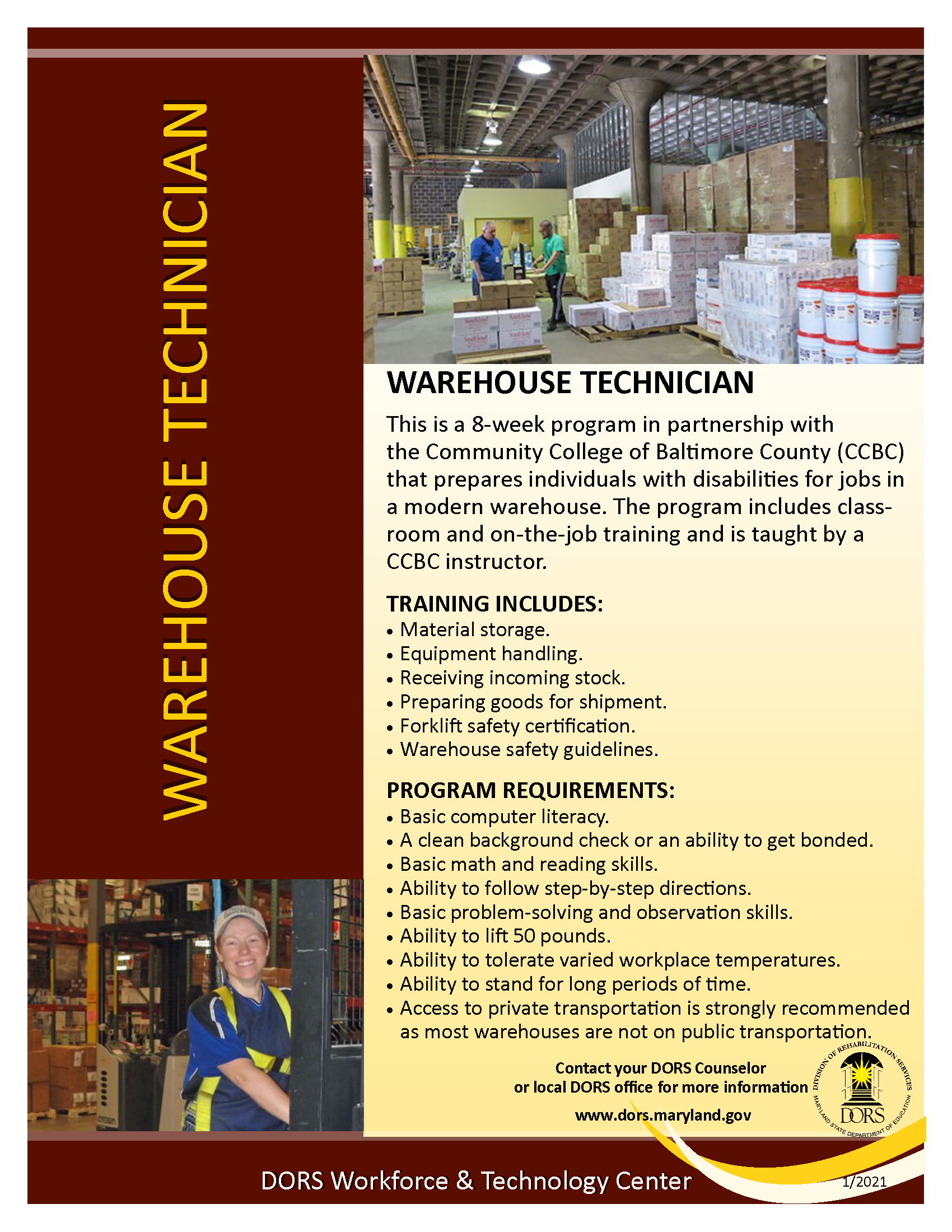 Warehouse Technician Handout PDF